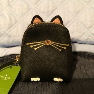 Kate spade Jazz Things Up Cat Coin Purse!